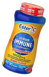 Ester-C Vitamin C, 1000 mg Berry Flavor Gummies, 90 Count
