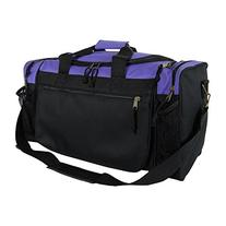 "DALIX 19"" Gym Duffel Bag with Water Bottle / Valuables Side"