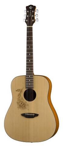 Luna Gypsy Series Henna Dreadnought Acoustic Guitar