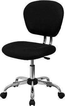 Flash Furniture H-2376-F-BK-GG Mid-Back Black Mesh Task