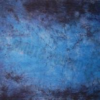 CowboyStudio Hand Painted 6 X 9ft Blue and Purple Muslin