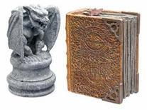 Hydor H2Show Magic World - Gargoyle and Book Decoration
