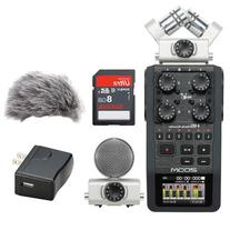 Zoom H6 Portable Recorder Kit with a Custom Windbuster, AD-