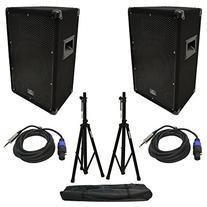 "Harmony Audio HA-V10P DJ 10"" 300W PA Speaker Speakon to 1/4"