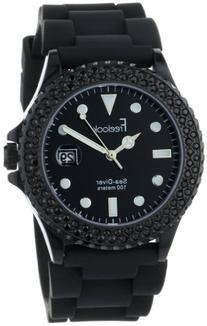 Freelook Men's HA1433B-1 Sea Diver Jelly Black with Black