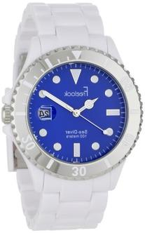 Freelook Men's HA1437-9D Sea Diver White Blue Dial Watch