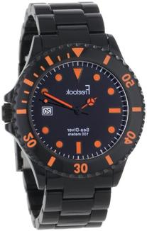 Freelook Men's HA1440-1A Sea Diver Spectrum Black Plastic