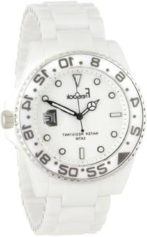 Freelook Men's HA5109-9 Lagon White Ceramic with Silver