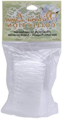Darice P10078-8 6Piece, Victoria Lynn Clear Plastic Hair