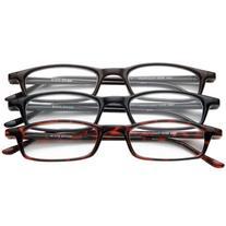 Half Eye Style Magnifying Reading Glasses +4.0 Set of 3