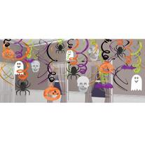 Halloween Hanging Swirl Decorations 30 pack