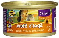 Halo Grain Free Natural Wet Cat Food, Chicken Recipe, 3-
