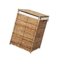 Hamper Laundry Square Basket with Liner Rattan, Badger