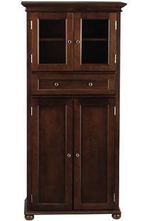 Hampton Bay 1 drawer Tall Bath Cabinet, 4-DOOR, SEQUOIA