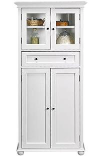 Hampton Bay 1 drawer Tall Bath Cabinet, 4-DOOR, WHITE
