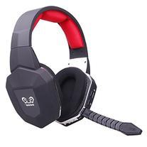 HAMSWAN Gaming Headset 2.4GHz Wireless Headphones with