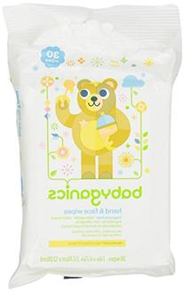 Babyganics Hand and Face Wipes, Fragrance Free, 30 Count