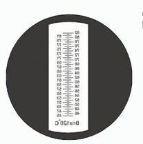 Sinotech Hand Held Fruit Sugar Refractometer Brix 45-82% Rhb