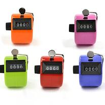 Zorpia® Pack of 5 Color Hand Held Tally Counter 4 Digit