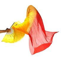 UZZO™ Colorful Performance Dancing Fan- Hand Made Silk
