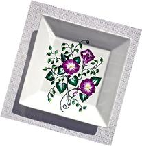 Hand Painted Decorative Plate With Purple Flowers Wall Art