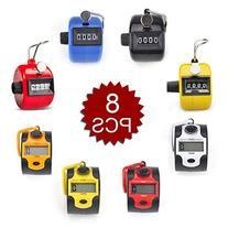 GOGO 8 Pcs Hand Tally Counter, Manual & Digital Tally