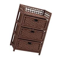 Household Essentials Hand-Woven Paper Rope 3-Drawer Chest,