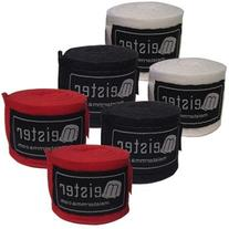 "3 Pairs Pack Adult 180"" Hand Wraps Elastic Meister MMA"