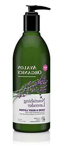 Avalon Organics Nourishing Lavender Hand & Body Lotion, 12