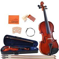 ADM Handcrafted Solid Wood Student Violin 1/2 Half Size with