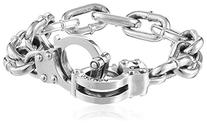 King Baby Large Handcuff Clasp Silver Bracelet