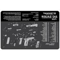 TekMat 11-Inch X 17-Inch Handgun Cleaning Mat with Sig Sauer