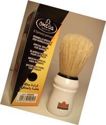 Red handled Omega Professional Boar Hair Shaving Brush