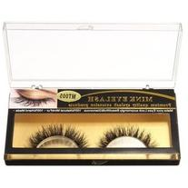 Handmade Natural Mink Fur Eye Lashes Long Cross False