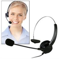 Hands-free Noise Cancelling Monaural Headset Cord & Dual 0.