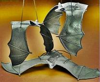 Hanging Halloween Bats - 13 Inch Large Size - 12 Per Order