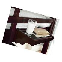 15 in. Hanging Night Stand in Chocolate Finish