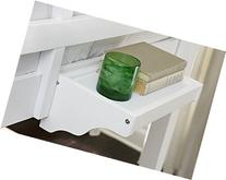 15 in. Hanging Night Stand in White Finish