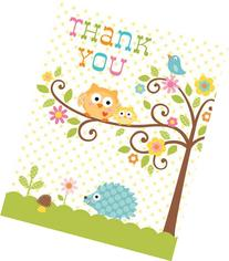 Creative Converting Happi Tree Sweet Baby Thank You Notes, 8