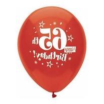 Happy 65th Birthday Balloons - Sixty Fifth Birthday Balloons