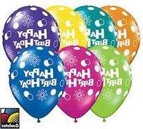 Happy Birthday Qualatex Latex Balloons, 11-inch 25 Per Pack