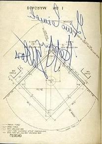 Happy Felton D.64 Signed 1957 Rules Book Brooklyn Rare Jsa