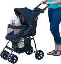 Pet Gear No-Zip Happy Trails Lite Pet Stroller, Zipperless