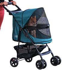 Pet Gear No-Zip Happy Trails Pet Stroller for Cats/Dogs,