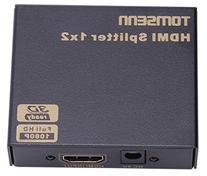 Etekcity 1x2 HDMI Splitter / 2 Port Audio Video Amplifier