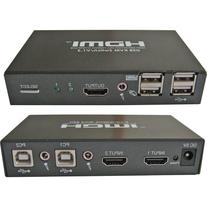RF LINK 2-Port HDMI USB KVM Switch with Cables