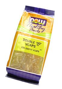 NOW Foods Healthy Foods VCAPS Double 00 -- 250 Empty Vcaps