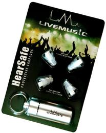LiveMus!c HearSafe Ear Plugs with Silicone Triple Flange and