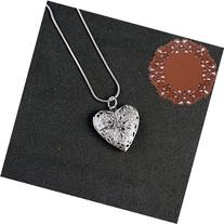 1 Piece Heart Locket Pendant Sterling Silver Plated Necklace