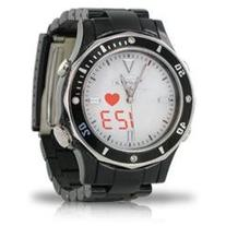 Fashion S-Pulse Heart Rate and Dual Time Zone Watch with